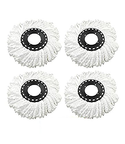 One Stop Shop Pack of 4 Replacement Head Refill for 360 Rotating Easy Mop Magic Mop Spin Mop Cleaner Duster  available at amazon for Rs.299