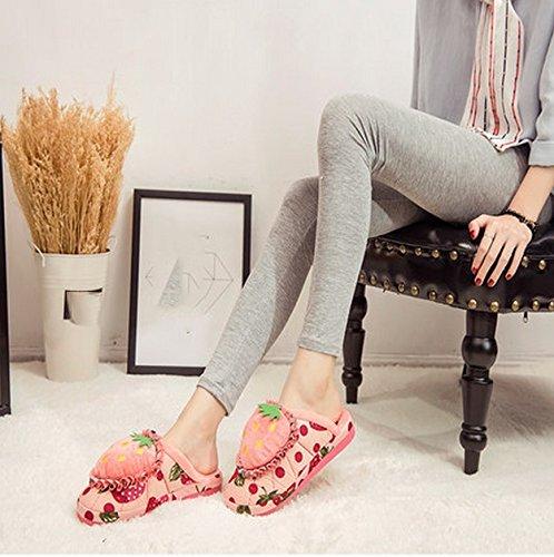 Pantoufles en coton Femmes Hiver Accueil Lovely Cartoon Indoor Gardez Chaudes Pantoufles Chaussures épaisses Base ( couleur : # 1 , taille : 33-34 ) # 1