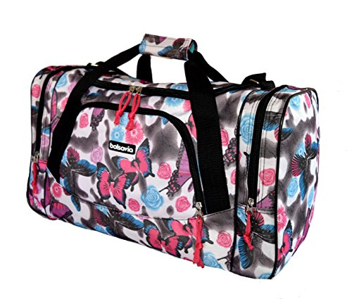 Borsone Borsa da viaggio bagaglio a mano da uomo donna palestra sport maternità 4223 Grey 50x28x20cm small 5520 Butterfly