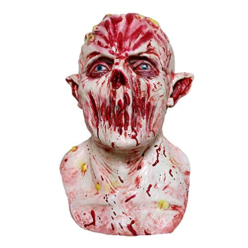 (Halloween-Maske, Halloween Mutant Zombie, Blood Ghost Latex Maske, Horror Ghost Scary, Prank Maske Face Scary Party, Bar Requisiten, Maskerade)