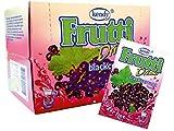 Frutti Instant Getränkepulver ohne Zucker - Geschmackrichtung: Blackcurrant Schwarze Johannisbeere 24er Packung