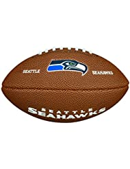 Wilson NFL Team Logo Mini American Football, Braun, Größe Mini