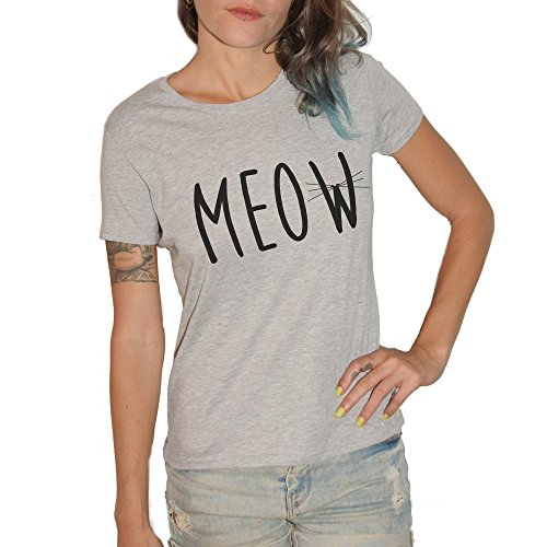 T-shirt Meow – by Brain Factory gris