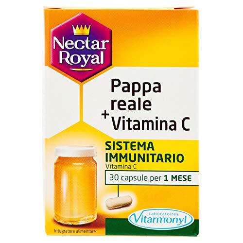 Vitarmonyl NECTAR ROYAL PAPPA REALE + VITAMINA C Integratore 30 capsule Sistema Immunitario Registrato Ministero Salute Italiano
