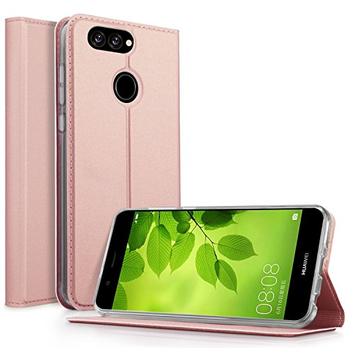 Coque iPhone 8, KuGi Apple iPhone 8 Flip Coque Premium PU Housse [Protection Complète] Couverture Multicolor avec support design pour Apple iPhone 8 (Bleu) Or rose