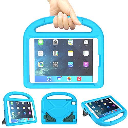 Kinder-Schutzhülle für Apple iPad Mini 5/4/3/2/1, stoßfest, mit integriertem Griff, leicht, strapazierfähig, Eva-Schutzhülle für Mini for iPad Mini 5/4/3/2/1 Tablet blau (Apple Blue 2-case Ipad)