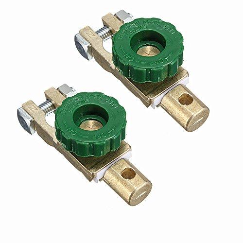 Wiwir, 2morsetti interruttori stacca-batteria con protezione corrente 6–24V (tipo 2)
