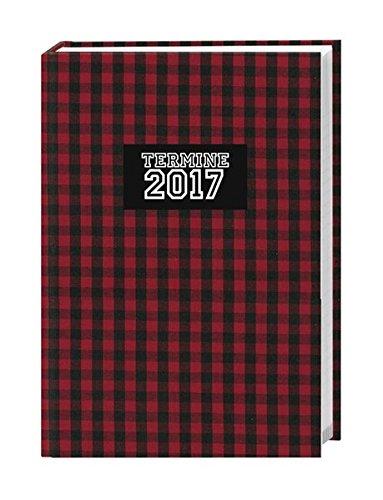 Karo 17-Monats-Kalenderbuch A6 - Kalender 2017: 17 Monate. Von August 2016 bis Dezember 2017.