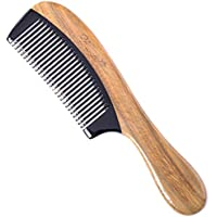 Black Buffalo Horn Comb with Sandalwood