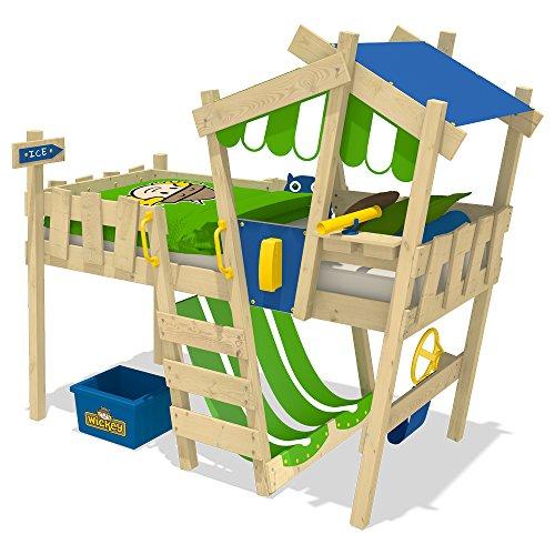 WICKEY Kinderbett 'CrAzY Hutty' - Hochbett - Spielbett - 90x200 cm -
