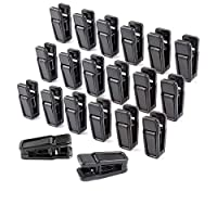 Homeerr Clothes Pins, Non-slip Plastic Pegs Slim Line Finger Clips Plastic Clips for Flocked Garment Trouser Hangers(Plastic Slim-line Finger Clip) - Removable,Black,Set of 40