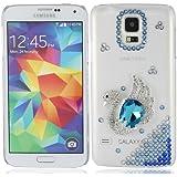 Bling Schwan kristall strass strasssteine diamant hülle schale abdeckung case cover housing für Samsung Galaxy S5 SV S V I9600