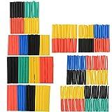 ASIV Guaine Termorestringenti Tubo Assortimento 2:1 Tubo Termoretraibile Tubo Manica Wrap Set Kit Filo 5 Colori 8 Taglia (328 Pezzi)