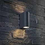 Wandleuchte LED Außenwandleuchte Einzelkopf Wasserdichte Wandleuchte mit Doppelkopf Balkon Garten Außen Licht dekorative Beleuchtung,B