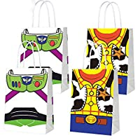 16 PCS Toy Inspired Story Decorations, Party Favor Bags for Toy Inspired Story Party Supplies- Party Favor Candy Bags for Girls Boys Adults Birthday Party Decor- 2 Patterns Double Sided Printed