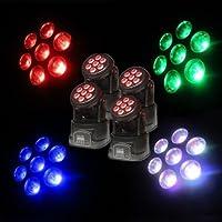 4 PCS Mini 7x12W RGBW 5 in 1 LED Moving Head Wash fascio DJ / Disco / luce della fase