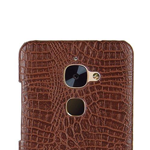 YHUISEN LeEco Le S3 Case, Luxus Klassisches Krokodil Skin Pattern [Ultra Slim] PU Leder Anti-Kratzer PC Schutzhülle für LeTV LeEco Le S3 (5,5 Zoll) ( Color : Orange ) Brown