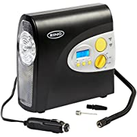 Ring RAC600 12V Digital Tyre Inflator, Air Compressor Tyre Pump, 3.5 Min Tyre Inflation, LED Light, Valve Adaptors