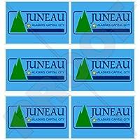 Juneau Alaska bandiera americana Alaskan 40mm (40,6cm) telefono cellulare mini adesivi in vinile, decalcomanie X6