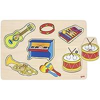 Goki 57520 - Puzle Sonoro Instrumentos De Musica (5 Pzas) (Madera) (+1) - Peluches y Puzzles precios baratos