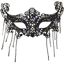 Westeng Westeng Máscara de Encaje Negra Atractiva Máscara de Mujeres Antifaz para Halloween Veneciano Mascarada Carnaval