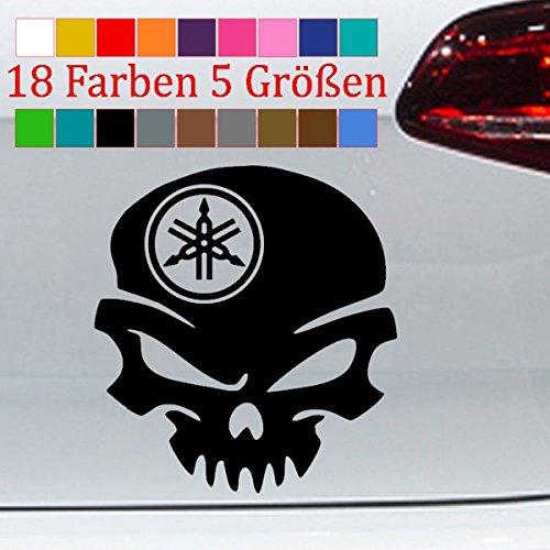 Generic Yamaha Aufkleber Totenschädel Tuning Auto Aufkleber Car Skin 18 Farben 5 Größen