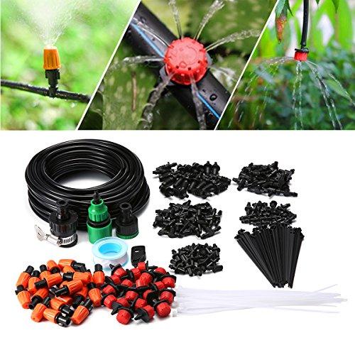 KING DO WAY Auto Bewässerungssystem Garten Bewässerung verstellbar Zerstäuberfunktion Kits System DIY pflanzen Wasser Gartenschlauch Automatische Kits (15 meter Schläuche Set)