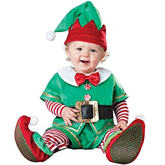 Odziezet Navidad Conjunto Bebé de Papá Noel Elf Reno Muñeco de Nieve Ropa Disfraz 4 PCS Sombrero+Traje+Zapatos+Bufanda 0-2 años