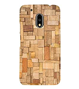 WOODEN BLOCKS Designer Back Case Cover for Motorola Moto G4