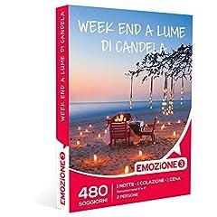 Idea Regalo - Emozione3 - Cofanetto Regalo - Week End A LUME di Candela - 480 soggiorni romantici in Hotel 3 o 4 Stelle in Tutta Italia