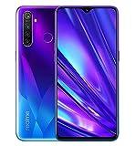 Realme 5 Pro Smartphone 4GB RAM + 128GB ROM, Pantalla de 6.3'' IPS, procesador Octa-Core, 16MP Frontal y 48MP AI Cuádruple Cámara, Dual Sim, Sparkling Blue (Azul)