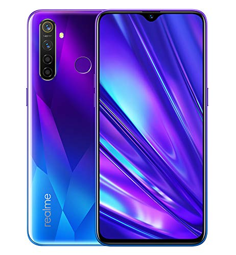 realme 5 Pro Smartphone 8GB RAM + 128GB ROM, Pantalla de 6.3'' IPS, procesador Octa-Core, 16MP Frontal y 48MP AI Cuádruple Cámara, Dual Sim, Azul Brillante, Versión Europea, Enchufe EU