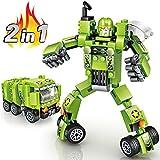 Joylink, Jouet de Voiture Robot, Jouet de Bloc de Construction, Assembler Jouet Éducatif, Blocs De Construction, Jouets Déformation Robot Voiture, Vert