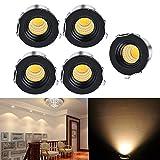 WZOED Lot de 5 Spots LED encastrables pour Armoire à vin/Armoire/Cuisine/Salon LED 3...