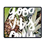ASKSSD Tappetino per Mouse Mouse Pad Pineapple Good Vibes Only Rectangle Non-Slip 9.8in11.8 in Personalized Designs Gaming Rubber Mousepad Stitched Edges Mouse Mat