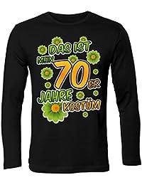 Karnevalskostüm - Faschingskostüm - Halloween - Das ist mein 70er Jahre kostüm T-Shirt Herren Langarmshirt - Longsleeve S-XXL - Deluxe