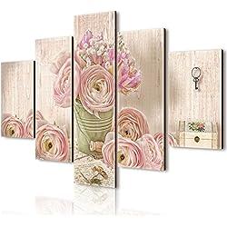 Cuadro de paneles de Lupia Vogue, diseño romántico, de madera, multicolor, 66 x 115 x 0.8 cm.