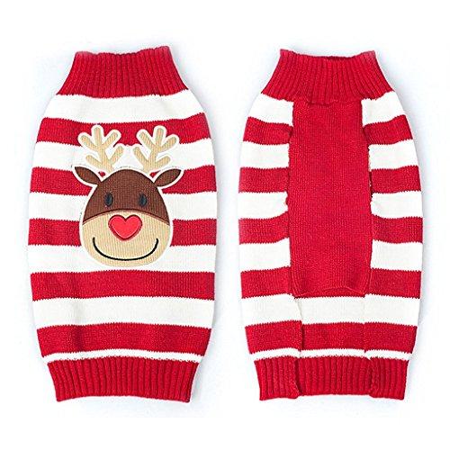 PRIMI 1kleine Hunde/Welpen Pullover Weihnachten Rentier Muster Kostüm für Haustiere (M) (Rentier Kostüm Muster)