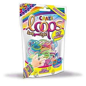 CRAZE Loops 20692 - 100 Anillos de Silicona para Pulsera, diseño de Mega US-Trend