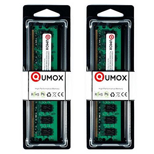 QUMOX Memoria DIMM computadora Desktop 4GB2X 2GB DDR2