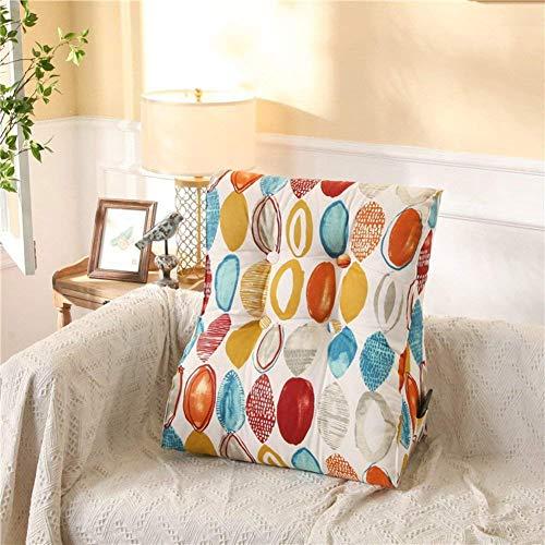 ZHT Komfortables Heimkissen/Kissen, Komfortable und einfache Kissen, Baumwolle gedruckt Taille Rückenstütze Kissen/Sofa Rückenpolster,45x55cm (18x22inch),HH
