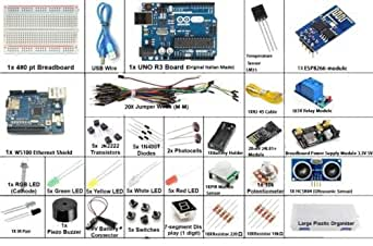 Arduino Compatible IOT Internet of Things Kit with Arduino UNO R3 and Ethernet Shield by REES52