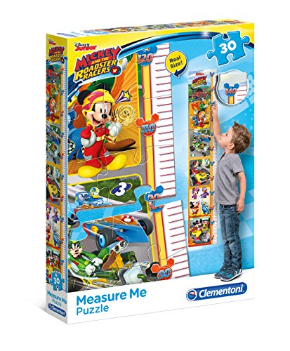 Clementoni 20321 Mickey and the Roadster Racers - Maxi Measure Me Puzzle, 30 Teile