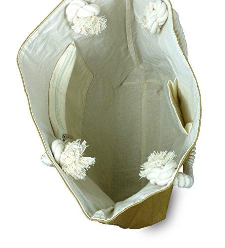 lila Tulpe - Shopper Holly - hochwertige Damen Handtasche / Schultertasche / Einkaufstasche aus waschbaren Papier mit Lederoptik / veganes Leder / leicht, reißfest und wasserbeständig - 4