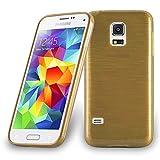 Cadorabo Coque pour Samsung Galaxy S5 MINI / DUOS , OR Design METAL BROSSÉ...