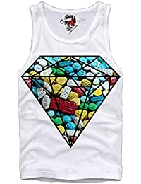 E1SYNDICATE TANK SHIRT XTC ECSTASY DIAMOND PARTY RAVE DJ TECHNO KN9A LSD MDMA T S-XL