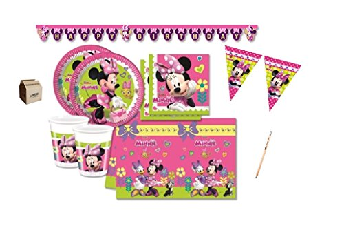 Irpot - kit n 17 compleanno party 40 persone minnie bouquet