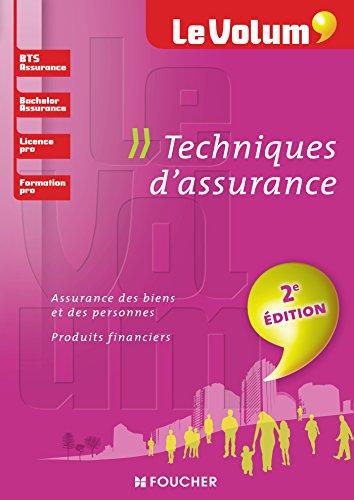 Techniques d'assurance - Le Volum' - BTS Assurance, Bachelor, Licence pro, formation pro