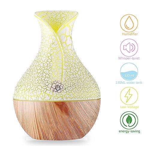 YOMETOME Difusor de Aceites Esenciales,Difusores Humidificadores Aromas de 130ml 7 Color LED, Difusor...