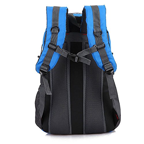 Zcl leggero zaino da escursionismo, 30l impermeabile in nylon Day Pack?Campeggio Rock climbing Travel Backpacking, unisex, Black Red